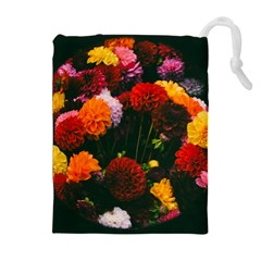 Beautifull Flowers Drawstring Pouches (extra Large)