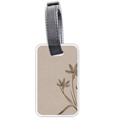 Background Vintage Drawing Sepia Luggage Tags (one Side)  by Nexatart