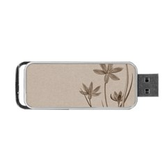 Background Vintage Drawing Sepia Portable Usb Flash (two Sides) by Nexatart