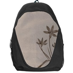 Background Vintage Drawing Sepia Backpack Bag