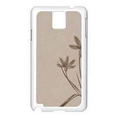 Background Vintage Drawing Sepia Samsung Galaxy Note 3 N9005 Case (white) by Nexatart