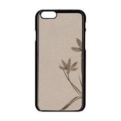 Background Vintage Drawing Sepia Apple Iphone 6/6s Black Enamel Case