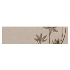 Background Vintage Drawing Sepia Satin Scarf (oblong) by Nexatart