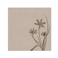 Background Vintage Drawing Sepia Small Satin Scarf (square) by Nexatart