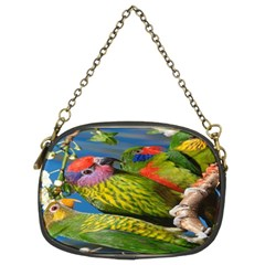 Beautifull Parrots Bird Chain Purses (two Sides)  by Nexatart