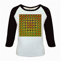 Background Tile Kaleidoscope Kids Baseball Jerseys
