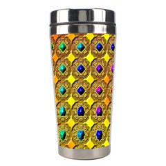 Background Tile Kaleidoscope Stainless Steel Travel Tumblers by Nexatart