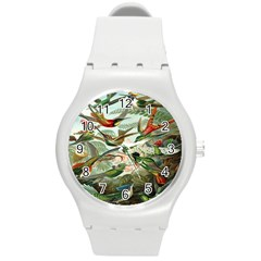 Beautiful Bird Round Plastic Sport Watch (m) by Nexatart