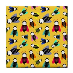 Bees Animal Pattern Tile Coasters