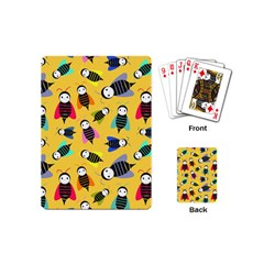 Bees Animal Pattern Playing Cards (mini)  by Nexatart