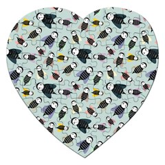 Bees Animal Pattern Jigsaw Puzzle (heart)