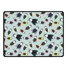 Bees Animal Pattern Fleece Blanket (small) by Nexatart
