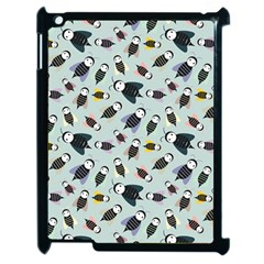 Bees Animal Pattern Apple Ipad 2 Case (black) by Nexatart
