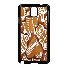 Biscuit Brown Christmas Cookie Samsung Galaxy Note 3 Neo Hardshell Case (black) by Nexatart