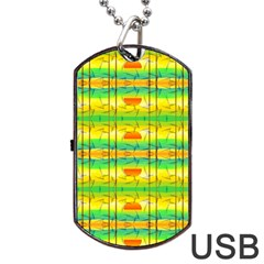 Birds Beach Sun Abstract Pattern Dog Tag Usb Flash (two Sides) by Nexatart