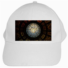 Black And Borwn Stained Glass Dome Roof White Cap by Nexatart