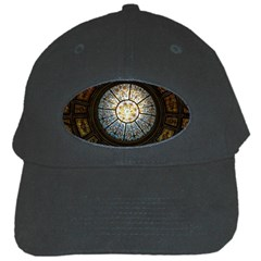 Black And Borwn Stained Glass Dome Roof Black Cap by Nexatart