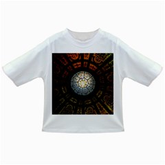 Black And Borwn Stained Glass Dome Roof Infant/toddler T Shirts by Nexatart