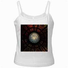 Black And Borwn Stained Glass Dome Roof Ladies Camisoles by Nexatart
