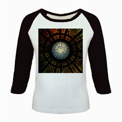 Black And Borwn Stained Glass Dome Roof Kids Baseball Jerseys by Nexatart