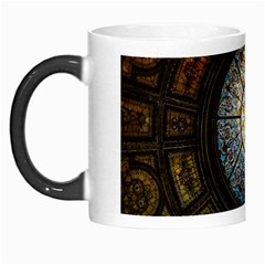 Black And Borwn Stained Glass Dome Roof Morph Mugs by Nexatart