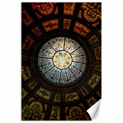 Black And Borwn Stained Glass Dome Roof Canvas 20  X 30