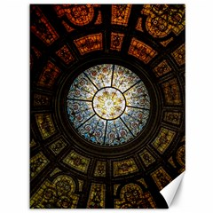 Black And Borwn Stained Glass Dome Roof Canvas 36  X 48   by Nexatart