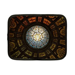Black And Borwn Stained Glass Dome Roof Netbook Case (small)  by Nexatart