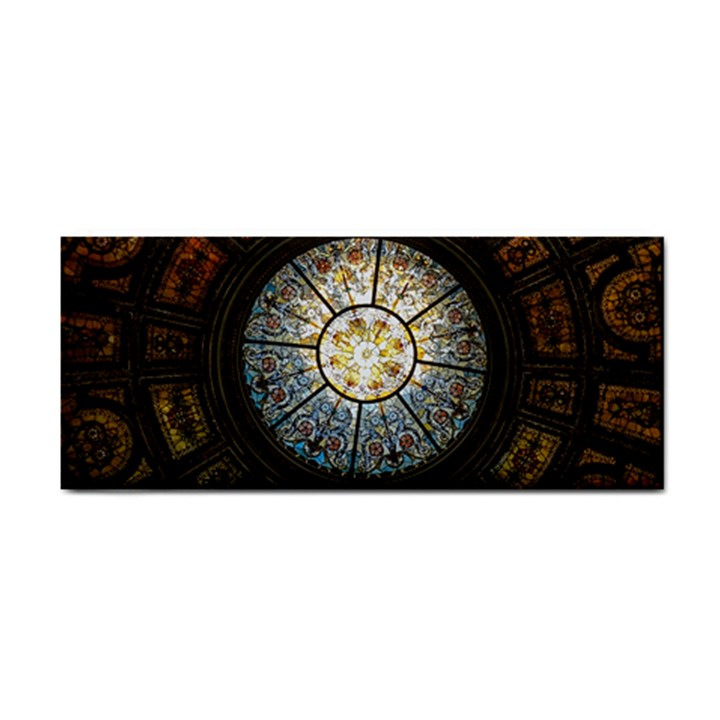 Black And Borwn Stained Glass Dome Roof Cosmetic Storage Cases