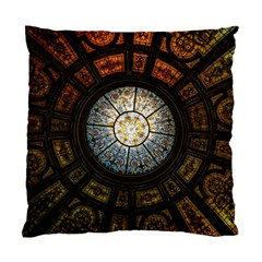Black And Borwn Stained Glass Dome Roof Standard Cushion Case (two Sides) by Nexatart