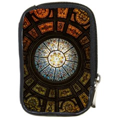 Black And Borwn Stained Glass Dome Roof Compact Camera Cases by Nexatart