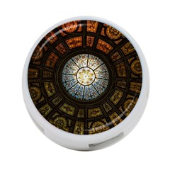 Black And Borwn Stained Glass Dome Roof 4 Port Usb Hub (one Side) by Nexatart