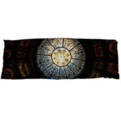 Black And Borwn Stained Glass Dome Roof Body Pillow Case Dakimakura (two Sides) by Nexatart