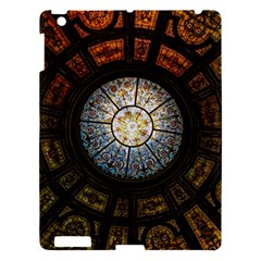 Black And Borwn Stained Glass Dome Roof Apple Ipad 3/4 Hardshell Case by Nexatart