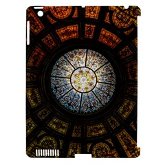 Black And Borwn Stained Glass Dome Roof Apple Ipad 3/4 Hardshell Case (compatible With Smart Cover) by Nexatart