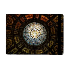 Black And Borwn Stained Glass Dome Roof Apple Ipad Mini Flip Case by Nexatart