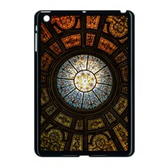 Black And Borwn Stained Glass Dome Roof Apple Ipad Mini Case (black) by Nexatart