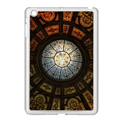 Black And Borwn Stained Glass Dome Roof Apple Ipad Mini Case (white) by Nexatart