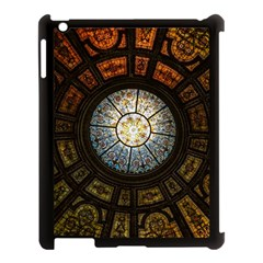 Black And Borwn Stained Glass Dome Roof Apple Ipad 3/4 Case (black) by Nexatart