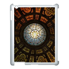 Black And Borwn Stained Glass Dome Roof Apple Ipad 3/4 Case (white) by Nexatart