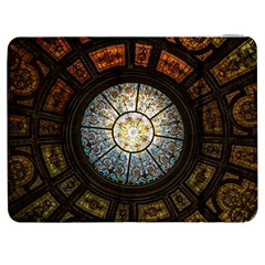 Black And Borwn Stained Glass Dome Roof Samsung Galaxy Tab 7  P1000 Flip Case by Nexatart
