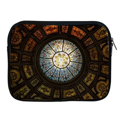 Black And Borwn Stained Glass Dome Roof Apple Ipad 2/3/4 Zipper Cases by Nexatart