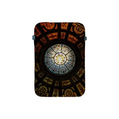 Black And Borwn Stained Glass Dome Roof Apple Ipad Mini Protective Soft Cases by Nexatart