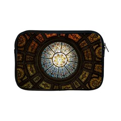 Black And Borwn Stained Glass Dome Roof Apple Ipad Mini Zipper Cases by Nexatart