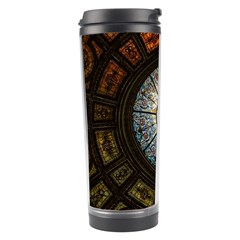 Black And Borwn Stained Glass Dome Roof Travel Tumbler by Nexatart