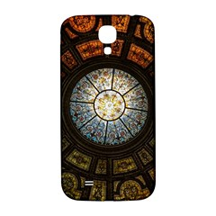 Black And Borwn Stained Glass Dome Roof Samsung Galaxy S4 I9500/i9505  Hardshell Back Case by Nexatart