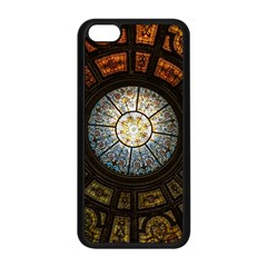Black And Borwn Stained Glass Dome Roof Apple Iphone 5c Seamless Case (black) by Nexatart