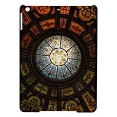 Black And Borwn Stained Glass Dome Roof Ipad Air Hardshell Cases by Nexatart
