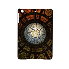 Black And Borwn Stained Glass Dome Roof Ipad Mini 2 Hardshell Cases by Nexatart
