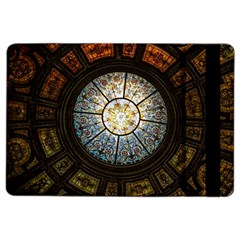 Black And Borwn Stained Glass Dome Roof Ipad Air 2 Flip by Nexatart